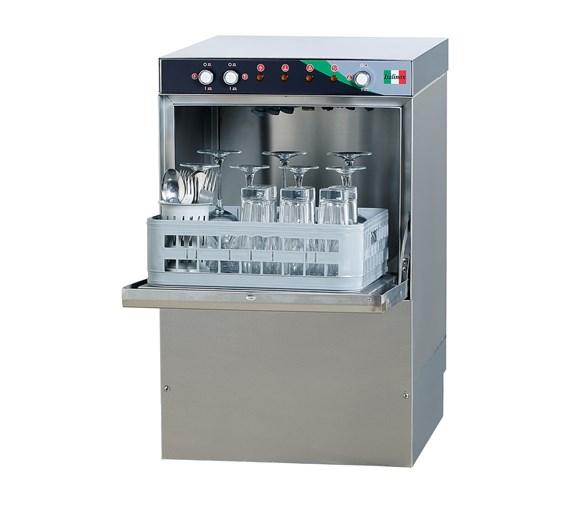 Commercial Glasswasher. Drain, Rinse Aid, Detergent Pumps & 400mm Baskets