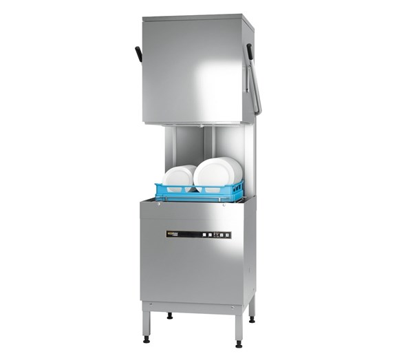Hobart Ecomax H604W-12B 500mm Hood Dishwasher Drain, Rinse Aid, Detergent Pumps