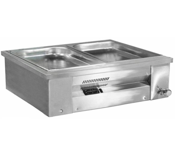 Inomak Stainless Steel Counter Top Bain Marie 2xGN1/1 MAV67 + Digital Controller