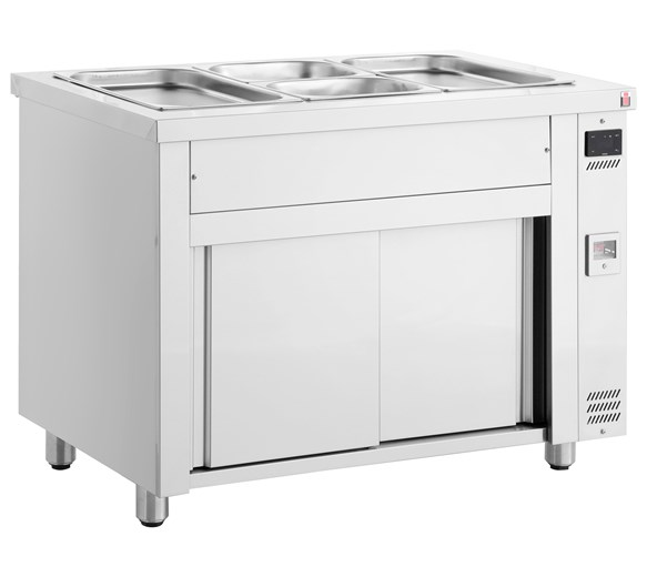 Inomak Stainless Steel Bain Marie + Ambient Base Heated Cupboard MDV711