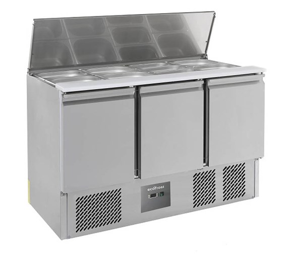 Combisteel S903 Ecofrost Saladette - Lift Up Lid - 3 Door  368 Litre Capacity
