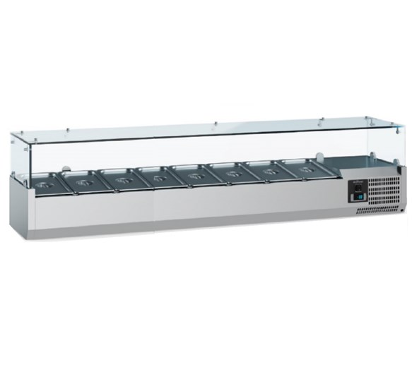 Combisteel Ecofrost 1800mm Refrigerated Topping Unit VRX1800 8 x 1-4 GN Pans