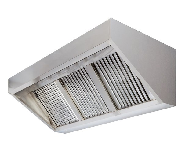 1000mm Wide Commercial Wall Mounted Extractor Hood Canopy with Grease Filters