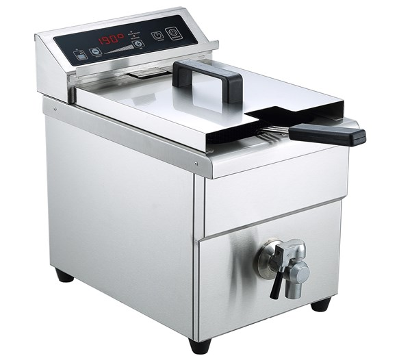 Gastrotek 8 Litre Tank Induction Commercial Fryer With Drain Tap