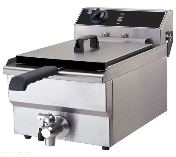 Quattro 19 Litre Tank Commercial Fryer With Drain Tap
