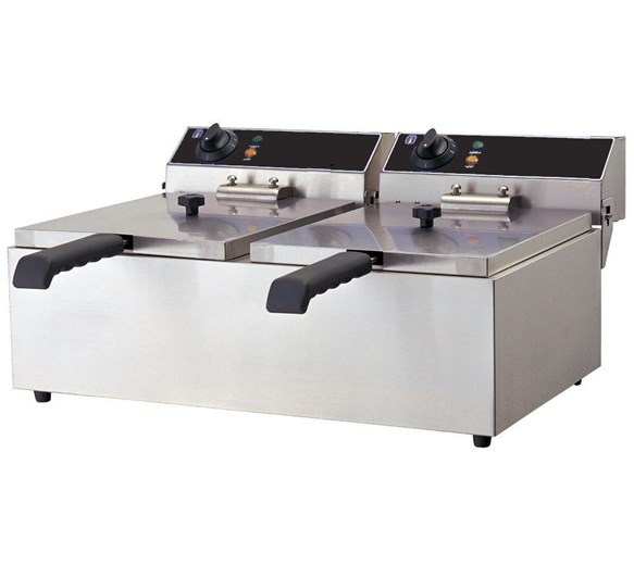 Quattro Twin 2 x 8  Litre Tank Commercial Fryer