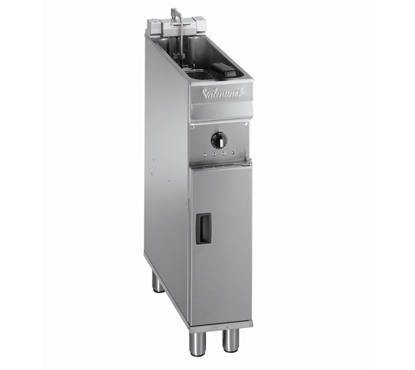 Valentine Electric Compact 200mm Floor Standing Single Tank 8 Litre Fryer 3 Phase Turbo