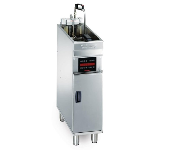 Valentine Electric Compact 250mm Floor Standing Single Tank 8 Litre Fryer 3 Phase Turbo