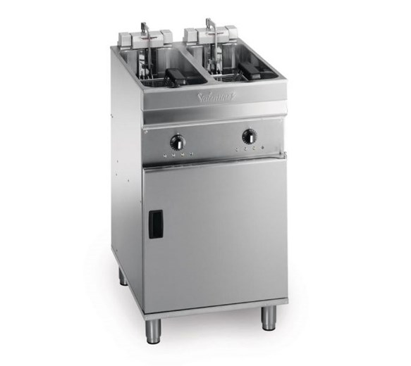 Valentine Electric Compact Commercial Fryer. 500mm Twin Tank 2 x 10 Litre