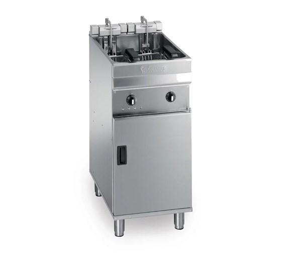 Valentine Electric Compact 400mm Floor Standing 18 Litre Single Tank 2 Basket Fryer