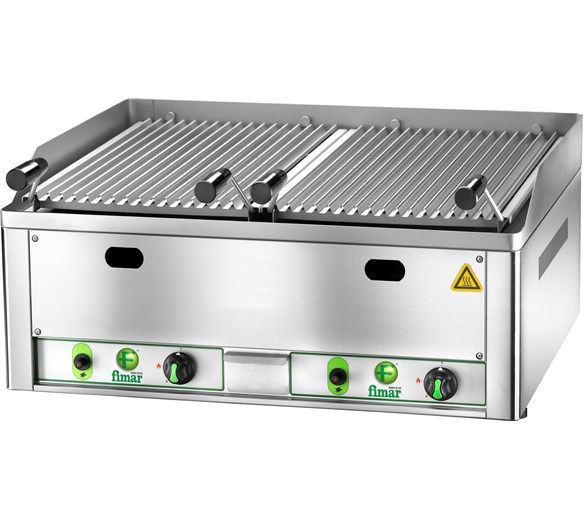 Fimar GL66 Natural Gas Lava Rock Chargrill - Made In italy - Premium Quality