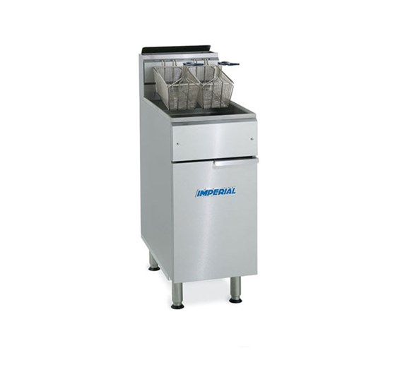 Imperial IFS50 Floor Standing Twin Basket Gas Fryer - 27  Litre Capacity - Natural Gas