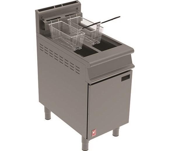 Falcon Twin Basket Floor Standing Natural Gas Fryer 25 Litre Capacity