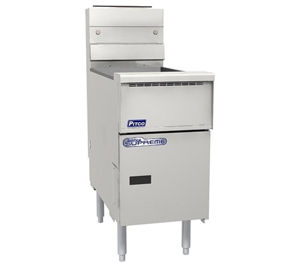 Pitco Solstice Supreme Floor Standing Twin Basket Gas Fryer 22 Litres