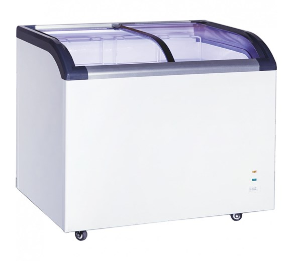 Gastroline Ice Cream Freezer 520 Litre with Curved Sliding Glass Lid
