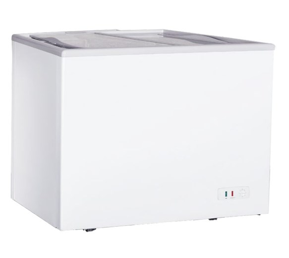 Gastroline Ice Cream Freezer 200 Litre With Flat Glass Lid