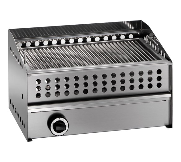 Gam GS3 Lava Rock Chargrill - Natural Gas - Made In Italy - Premium Quality