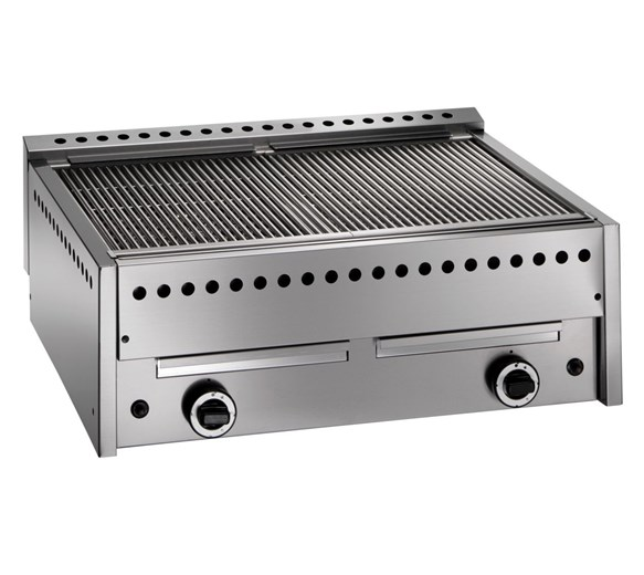 Gam GS6 Lava Rock Chargrill - Natural Gas