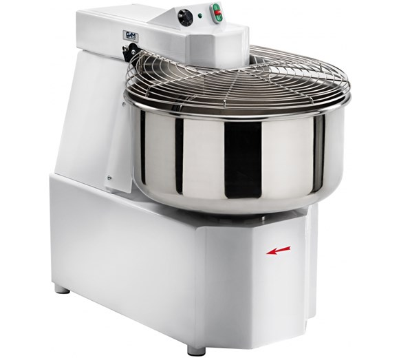 Gam Twin Speed Spiral Dough Mixer 76  Litre - 64kg Bowl Volume - Made In Italy - Model SX60TS