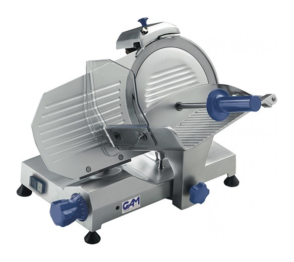 GAM Professional MI250 Gravity Meat Slicer. 10 inch - 250mm Blade - Made In Italy