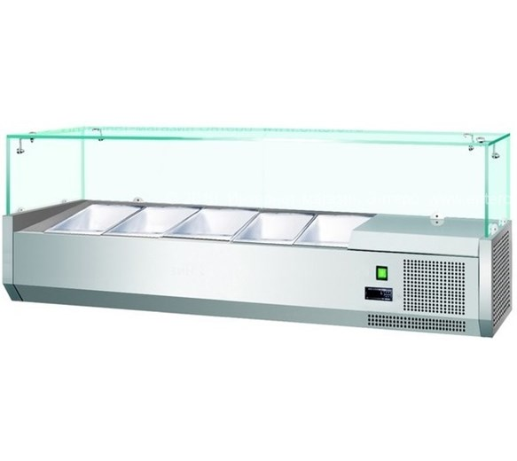Gastroline 1200mm Wide Refrigerated Topping Unit VK120 - VRX1200 5 x 1-4 GN Size