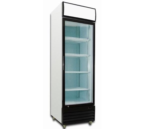 Gastroline 13.6 cu ft - 375 Litre Commercial Glass Door Fridge With Canopy