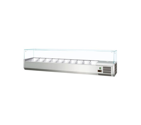 Gastroline 2000mm Refrigerated Topping Unit VK200 - VRX2000 10 x 1-4 GN Pans