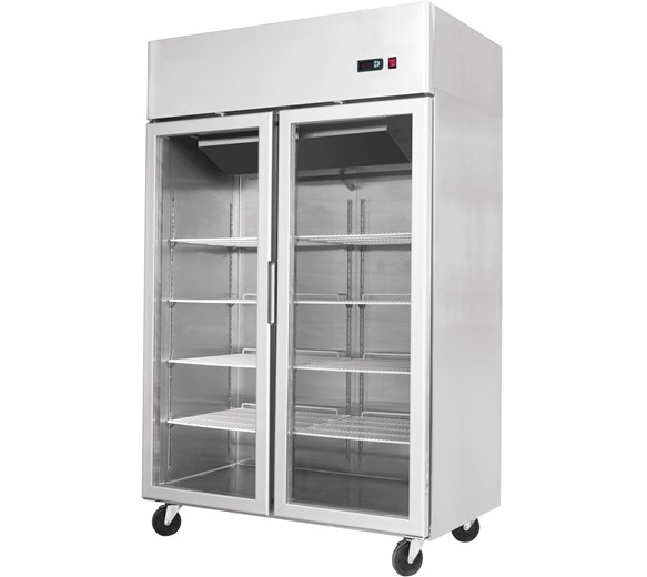 Gastroline AT1200G Glass Double Door Refrigerator With Removable Refrigeration Cassete