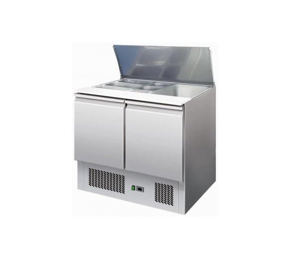 Atosa ESL3800 2 Door Refrigerated Saladette - Lift Up Lid