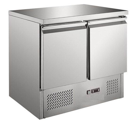 Gastroline S901 - 2 Door Refrigerated Prep Counter- Solid Top