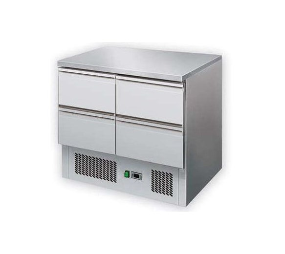 Gastroline S901-4D Refrigerated Prep Counter With 4 x Drawers