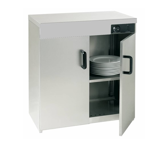 Quattro Hot Cupboard Stainless Steel - Double Door - Holds Up To 160 Plates