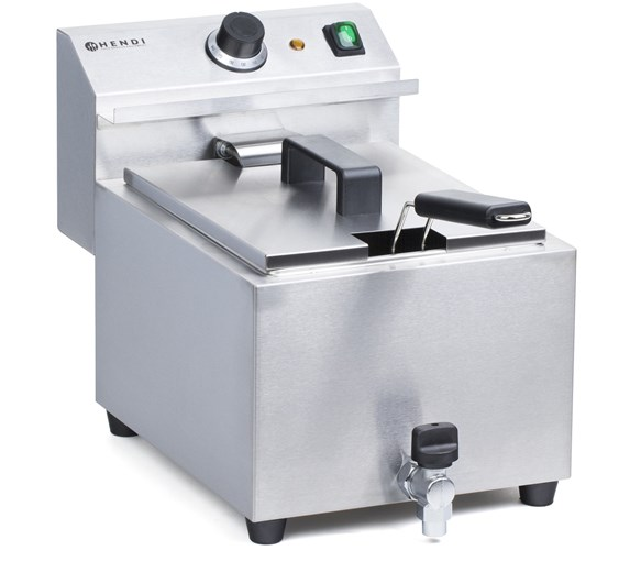 Hendi 8  Litre Mastercook Commercial Catering Fryer With Drain Tap 209387