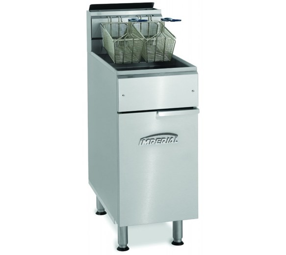Imperial IFS40-OP Twin Basket Floor Standing Gas Fryer 22  Litre Capacity