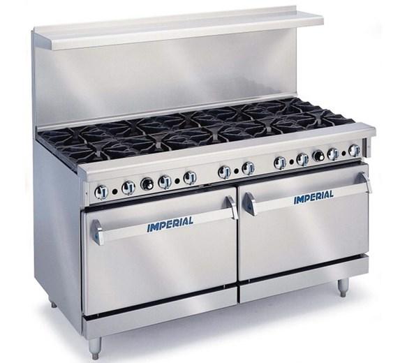 Imperial IR10 Heavy Duty 10 Burner Range Cooker Natural Gas With Splashback