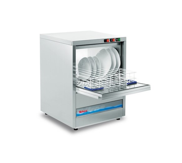 Teikos TS601 500mm Basket Glass/Dishwasher With 13 amp Plug + Drain Pump