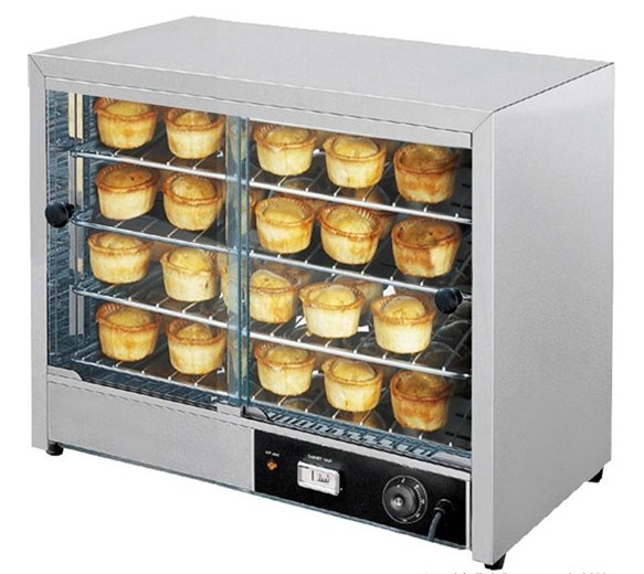 Italinox 580 Large Hot Display - Pie Warmer Cabinet - 4 Shelves - Up to 50 Pies