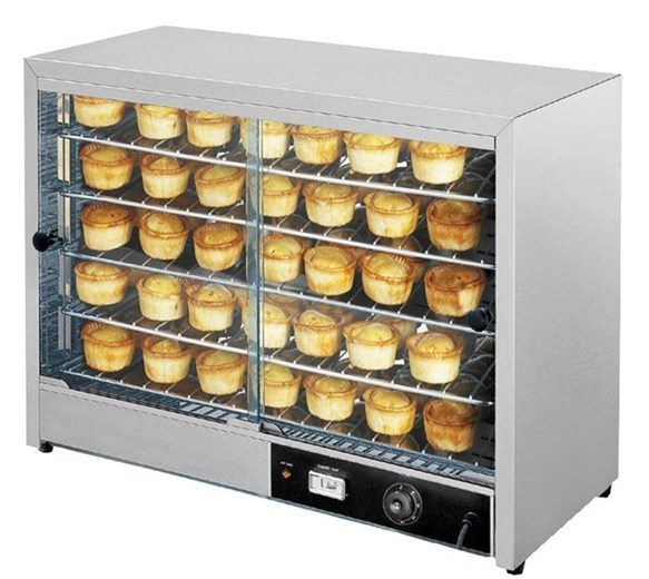 Italinox 805 Extra Large Heated Pie Cabinet Warmer Display - Holds Up to 100 Pies