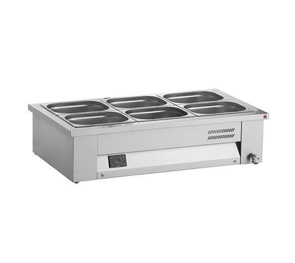 Inomak Stainless Steel Counter Top Bain Marie 2xGN1/1 MAV67 + Digital Controller