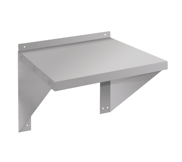Quattro Microwave Oven Wall Shelf Stainless Steel - 580mm Wide