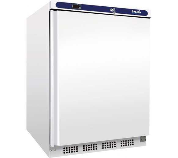 White Undercounter Catering Fridge 130  Litre Capacity