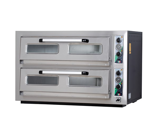 Italinox MK902 Twin Deck 3 Phase Electric Pizza Oven. 18 x 12 Inch Pizzas