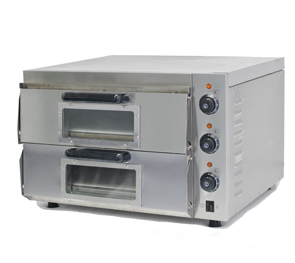 Italinox 500mm Compact Twin Deck Electric Commercial Pizza Oven