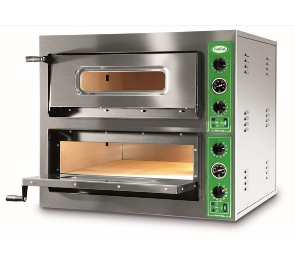 FAMA Forno B8+8M Twin Deck Pizza Oven 4 x 14 Inch Pizzas - Made In Italy