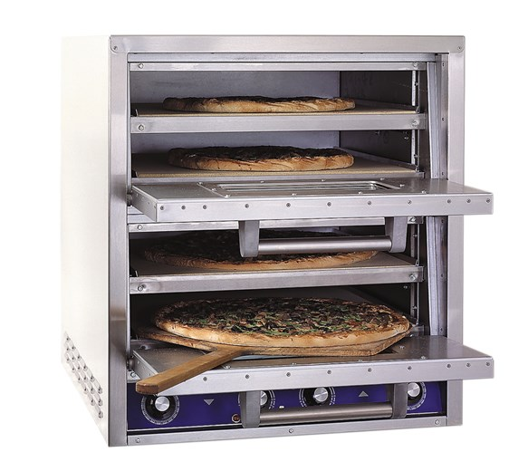 Bakers Pride P44S 4 Deck Electric Countertop Pizza Oven