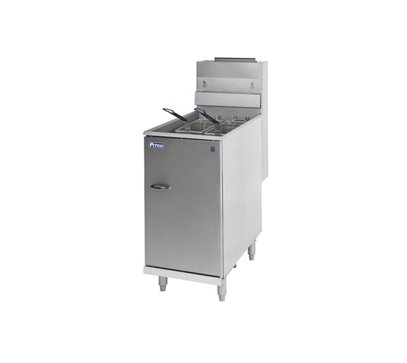 Pitco 35C Floor Standing Twin Basket Gas Fryer -  22  Litre Tank Natural Gas