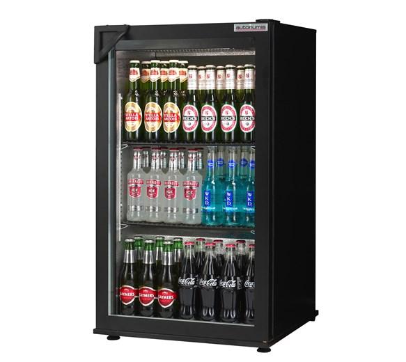 Autonumis Popular Black Single Hinged Door Bottle Cooler with 2 Year Warranty