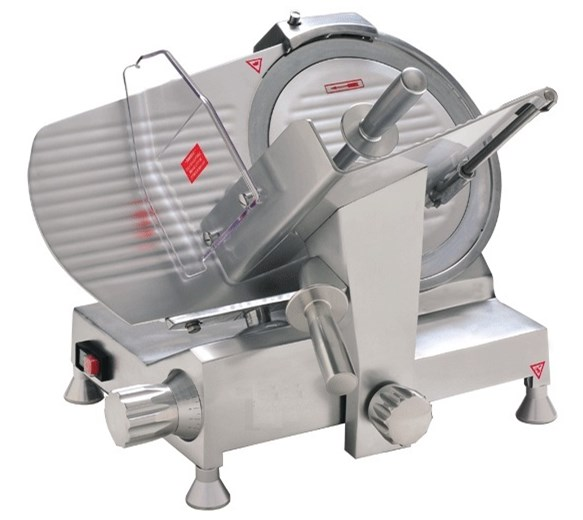 Quattro HDS250  10 inch - 250mm Catering Meat Slicer With Emergency Stop Button