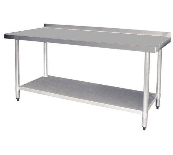 Quattro 1800mm Wide Stainless Steel Wall Bench