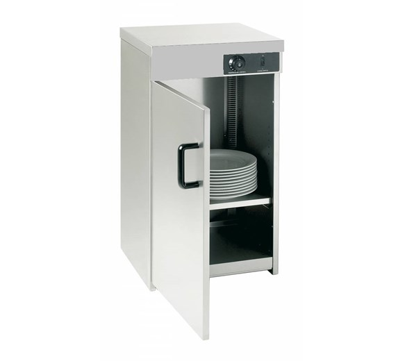 Quattro Hot Cupboard Stainless Steel - Single Door - Holds Up To 80 Plates